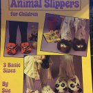 Crocheted Animal Slippers for Children Leisure Arts 1070 pattern in sm, med, large