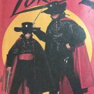 Zorro Super Hero Halloween Costume, Sewing Pattern McCalls 6689 Cape, Shirt, Mask, Gauntlets