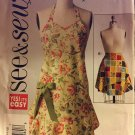Butterick 5125 Misses Aprons in Two Sizes See & Sew Sizes small, medium, large