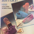 Slippers 9 Styles to Knit & Crochet Leisure Arts Pattern Leaflet #356