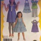 Size 3-6 Girls Dress Top & Pants Sewing Pattern Ruffle Dress  Simplicity 2434