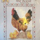 Hen Chicken QUEEN OF THE ROOST Cross Stitch Chart Green Apple CO. By David Merry