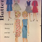 "Butterick 2931 UNCUT Sewing Pattern 12"" Tammy Teenage Doll ORIGINAL"