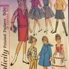 "Simplicity 5861 Wardrobe for 9"" Little Girl Dolls Such as Skipper: UNCUT PATTERN"