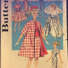 "Butterick Pattern 9993 11-1/2"" Fashion Dolls Teen Age Doll Wardrobe UNCUT!"