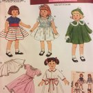 "Simplicity Size 18"" Doll Vintage Style doll clothes craft pattern 3929 Uncut"