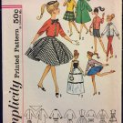 Simplicity 4700 Barbie Doll Clothes Pattern Wardrobe Fashion Doll Clothes Vintage Sewing Pattern