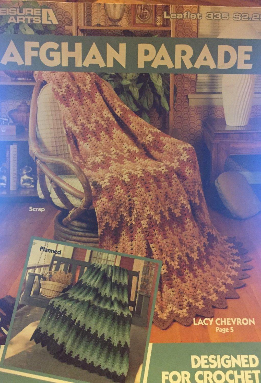 Leisure Arts 335 Afghan Parade Designed for Crochet Pattern