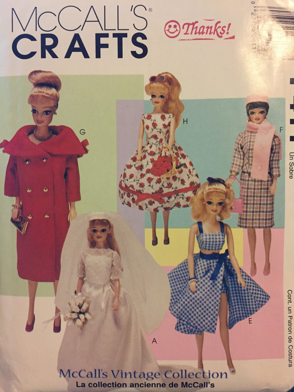 """Doll Clothes Vintage Collection for 11.5"""" Dolls McCalls P411/9664 Vintage 90s Sewing Pattern UNCUT"""