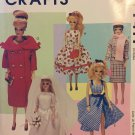 "Doll Clothes Vintage Collection for 11.5"" Dolls McCalls P411/9664 Vintage 90s Sewing Pattern UNCUT"
