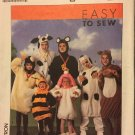 Cow Dog Squirrel Lamb Bee Adult Animal Costume Pattern Simplicity 9305 X Small to Large UNCUT