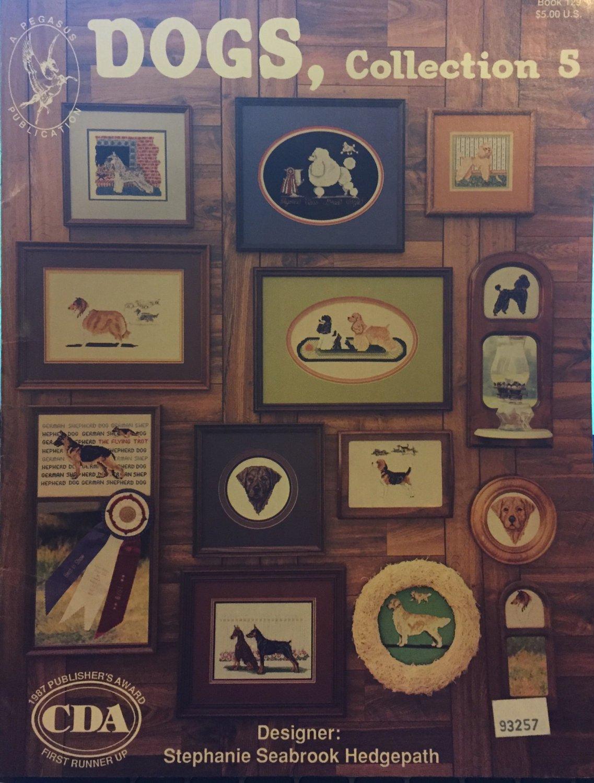 Dogs Collection 5 Cross Stitch Pegasus Publication Poodle Collie German Shepherd Doberman