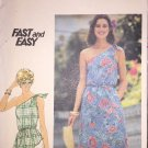 Butterick sewing pattern 5432 Misses One Shoulder Dress or Top size 12