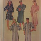 Vintage 80's Simplicity 7818 LOOSE NIGHTSHIRT Sewing Pattern Women Men Size XS Chest 29 -31 1/2¨