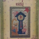 Mother Goose Nursery Block 5 Hickory Dickory Dock Applique Quilt Pattern