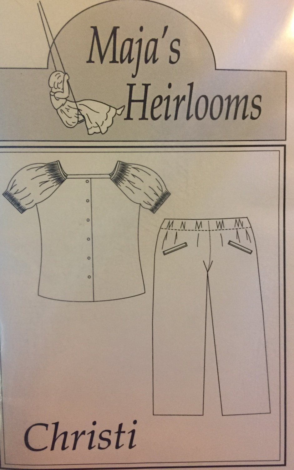 Maja´s Heirlooms CHRISTI Smocked top and pants Sewing Pattern Sizes 5, 6, 7, 8