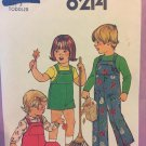 Simplicity 8214 Toddlers' Overalls in Two Lengths  Size 3