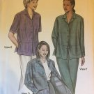 Womens Two for the Road Shirt Saf-T-Pockets Travelwear Sewing Pattern 9800 Size XS-3XL UnCut