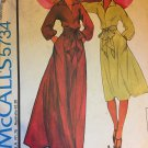 McCalls 5734 Sewing Pattern Halston Designer Women's Maxi Dress 1970's Size Medium 14-16