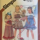 "Girls dress with long short sleeves & Kimberly 15¨"" doll dress Simplicity 5256 sewing pattern SZ 3"