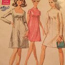 Vintage 1960s A Line Scalloped Neck Mini Dress Sewing Pattern Size 10 Simplicity 7898 Bust 32.5