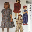 McCall's Pattern 7256 Toddler's Dress and Jumpsuit Size 2 3 4 Sewing Pattern