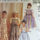 Easy Summer dress Girls Sewing Pattern, Blouse, Jumper or Sundress, Child size 4 5 6 McCalls 8071