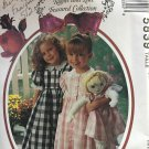 McCalls 5839 Sewing Pattern Little Girl's Dress with Pantaloons Matching Doll Dress  Size 4 5 6