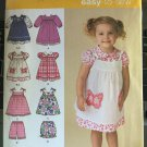 Simplicity Sewing Pattern 2461 Toddlers' Dress, Pinafore and Shorts Sizes 1/2 to 4