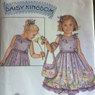 Girls Dress and Purse Daisy Kingdom Simplicity 2949 Sewing Pattern Size 3 4 5 6 7 8