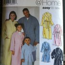 Simplicity 5931 Easy to Sew Unisex Child Teen Adults Robe and Belt