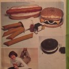 Vintage HOT DOG HAMBURGER Junk Food Pillow Package Simplicity 8643 Uncut