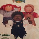 "BUTTERICK 6509 CABBAGE PATCH KIDS CLOTHES OVERALLS for 16"" Doll Pattern UNCUT"