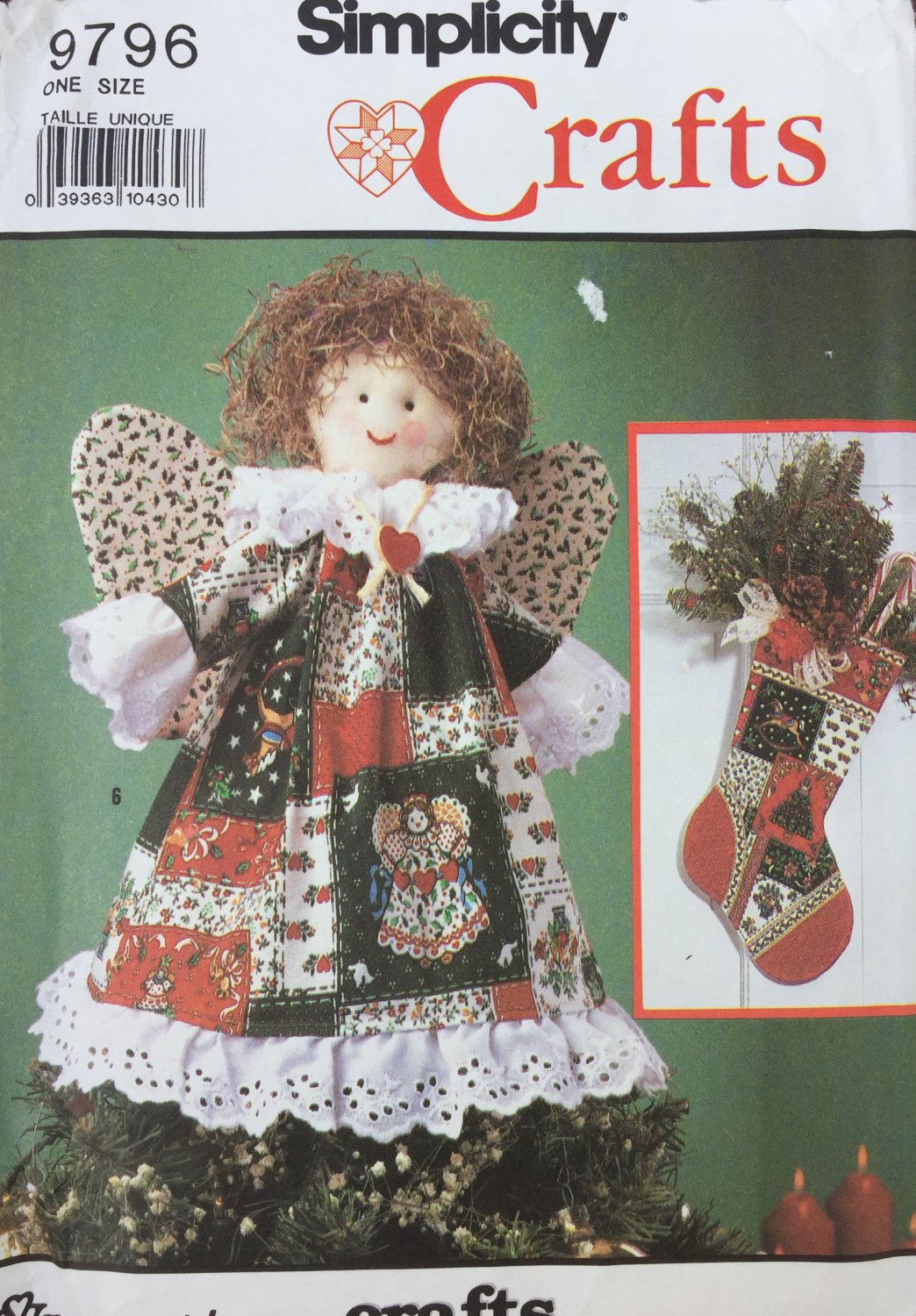 Christmas Holiday Tree Skirt Angel Ornaments Simplicity 9796 Sewing Pattern