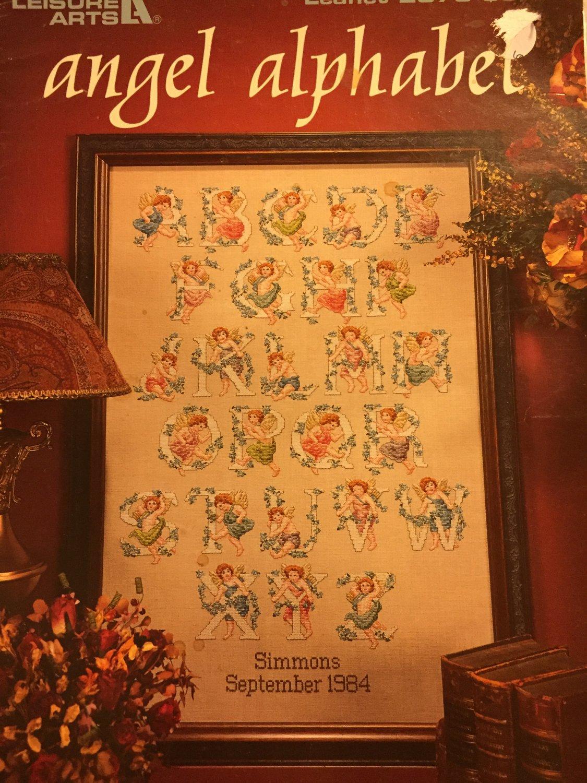 Angel Alphabet Cross Stitch Pattern Leisure Arts Leaflet 2870