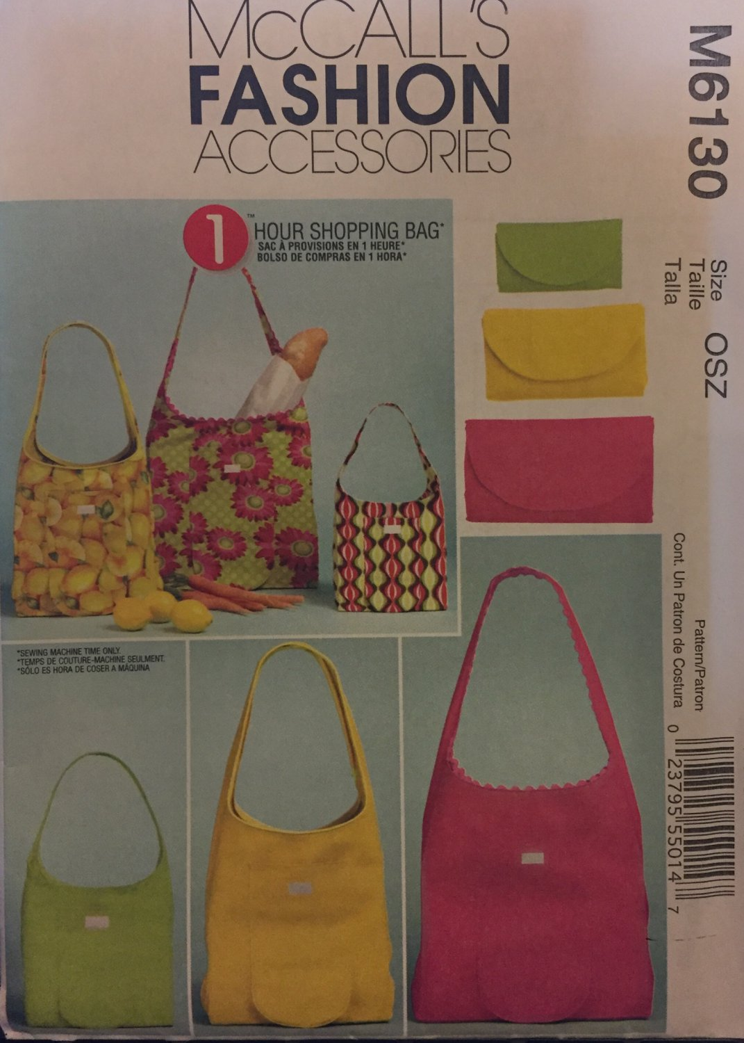 Shopping bag McCall´s Fashion Accessories Sewing Pattern 6130 3 sizes