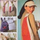 Butterick 4147 Visor Hat & Utility Shoulder Bag Sewing Pattern
