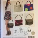 Burda 6622 Misses Totes Handbags with Fringe Embellishments Sewing Pattern
