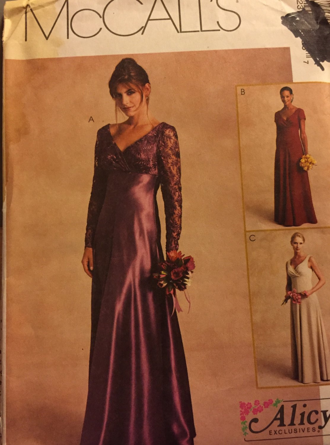 McCall's Sewing Pattern 2776 Misses' Self-Lined Special Occasion Dress and Scarf, Size 10 12 14