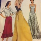 Misses Floor Length Maxi Skirt Sewing Pattern, Vogue 7260 uncut size 14, 16, 18