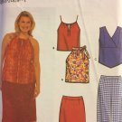 Skirt Spaghetti Strap Tank Top or Halter Top Plus Size Sewing Pattern 18W - 24W Simplicity 9666