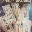 Birthday Bookmarks Cross Stitch Pattern 12 designs Leisure Arts Leaflet 2374