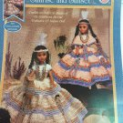 Indian Princess Southwestern Style Gowns for 15¨ Indian Doll Crochet Pattern Fibre Craft FCM407