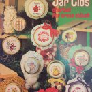 Leisure Arts leaflet 211. Jar Lids for counted cross stitch