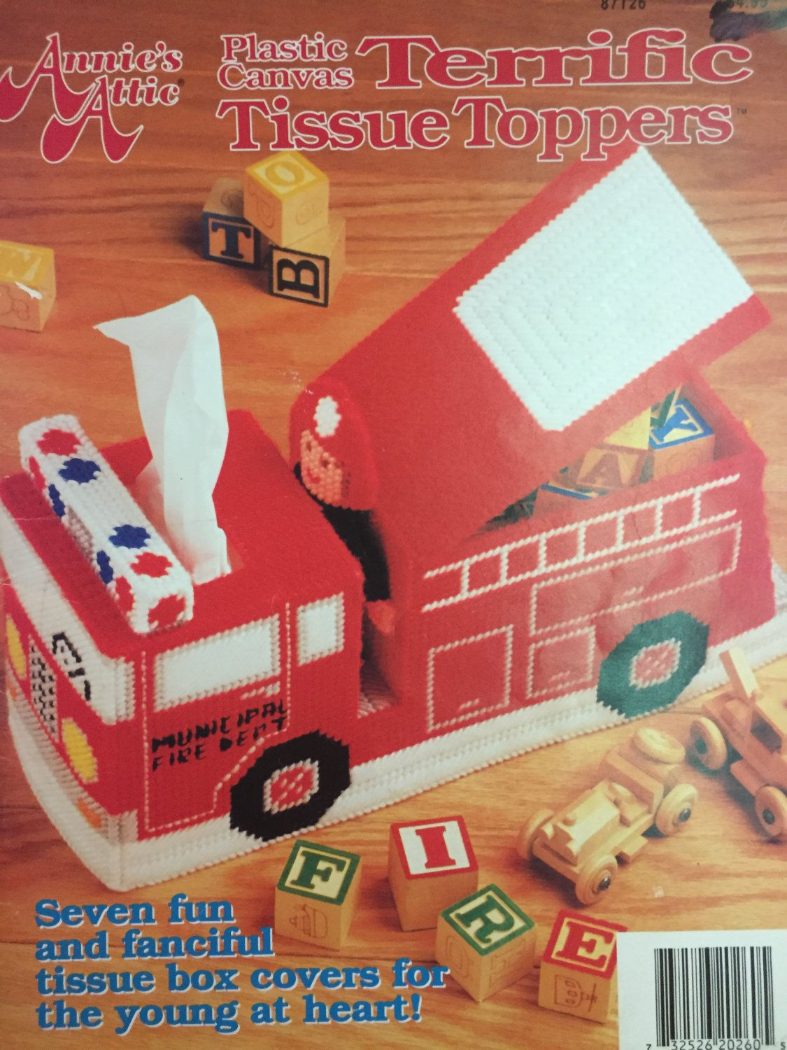 Fire Truck Annie's Attic Terrific Tissue Toppers Plastic Canvas Pattern 87T26