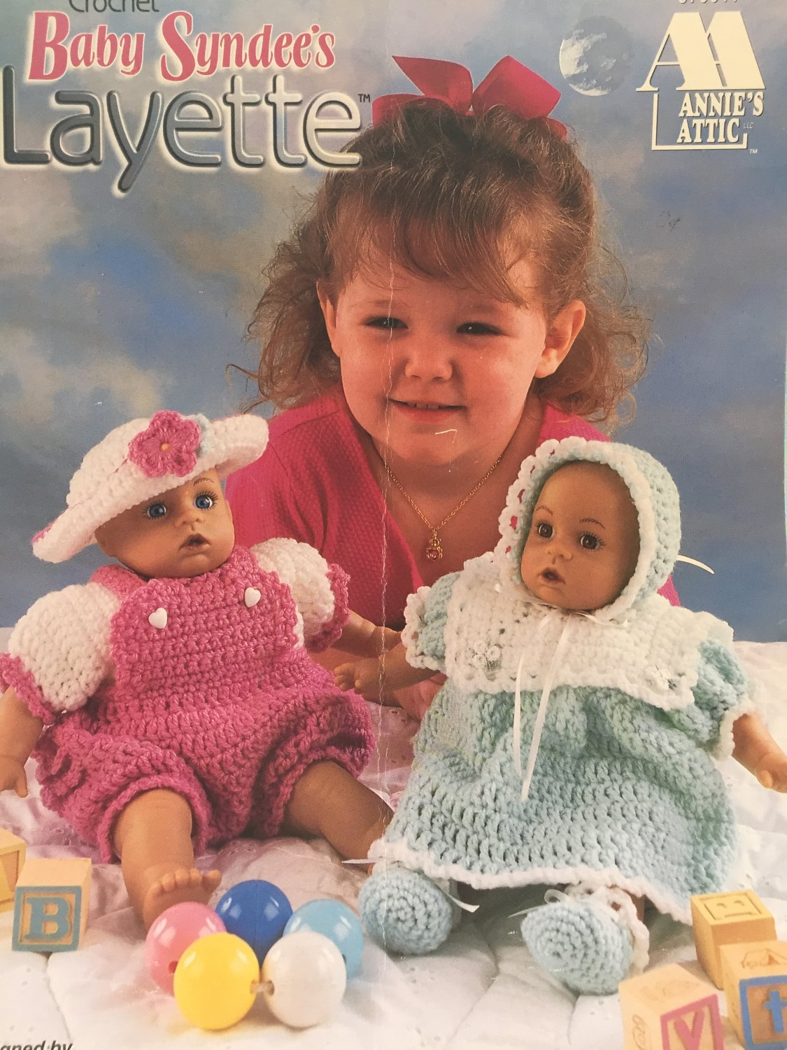 Baby Syndee´s Layette Annie´s Attic Carolyn Christmas Crochet Pattern 879911