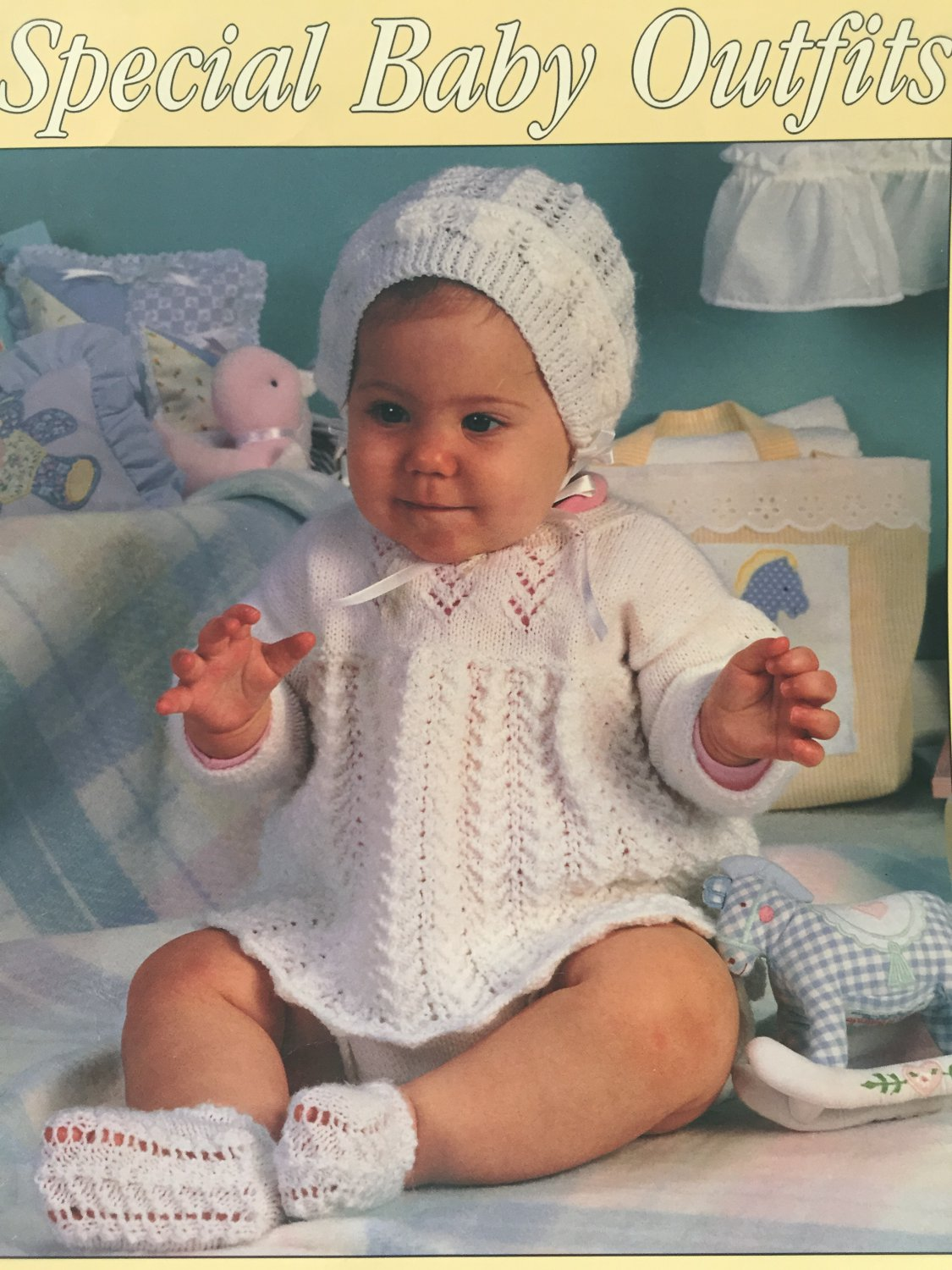 Special Baby Outfits for Baby to Knit Leisure Arts Leaflet 2329 by Carole Prior