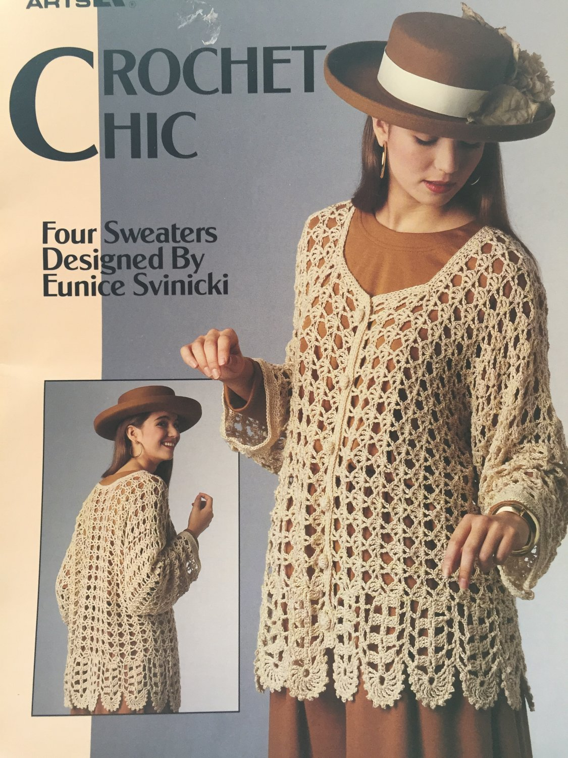 Crochet Chic Lacy tops Crochet Pattern Leisure Arts 2194 sizes medium large