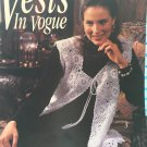 Vests in Vogue Crochet Pattern Leisure Arts 2641 sizes sm, med, large