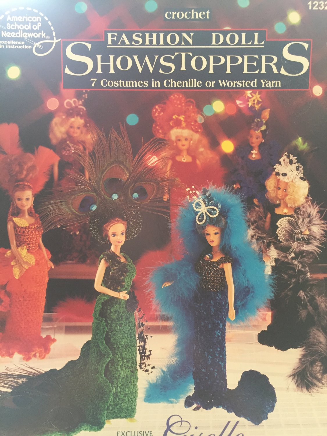 Showstoppers Fasnion Doll gowns American School of Needlework, 1232 Crochet pattern